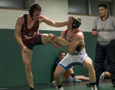 Frank Straka takes on an opponent from Glendale Community College.