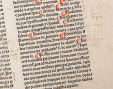 "Angelicus Bartholomaeus' ""De proprietatibus rerum"" was published in 1482. An Englishman and Franciscan, Bartholomaeus taught on the continent and compiled this enormously popular title of 19 books covering the works of ancient Greek, Arabian and Jewish writers."