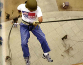 UA ROTC members learn how to repel at the Henry Koffler Building during the 2004-05 academic year.