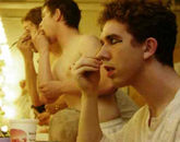 """UA theatre arts students prepare to perform in the production """"Pericles"""" during the 2004-05 academic year."""