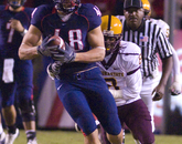 As a freshman, Gronkowski caught 28 passes for 525 yards and six touchdowns, which was second on the team.