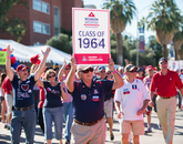 In 2004, UA Reunions became an official part of Homecoming weekend. The annual event observes the 50-year reunion and includes special celebrations for classes graduating in every decade thereafter.