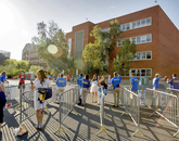 Students streamed through security as the gates opened at Arizona Stadium, two hours before the start of the program.