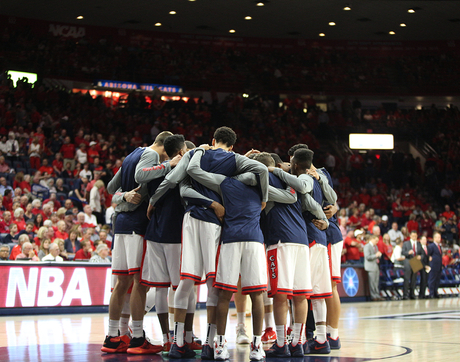The Arizona Wildcats will be far, far from home for their first-round game Thursday in the NCAA Tournament. (Photo: Stan Liu/Arizona Athletics)