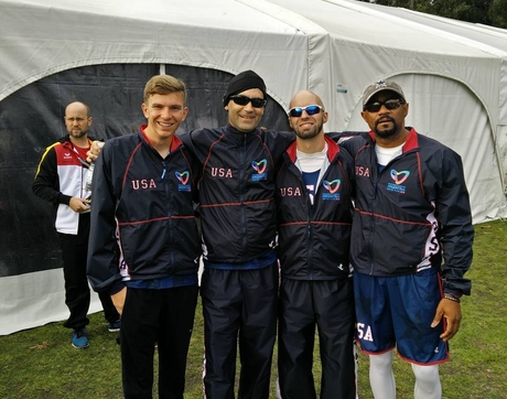 """We also compete knowing that donor families – families who have donated their loved ones' organs to others – have made a life-saving and a life-transforming decision that should not be forgotten,"" writes Zachary Brooks (second from left), who is preparing to compete in the World Transplant Games in Spain."