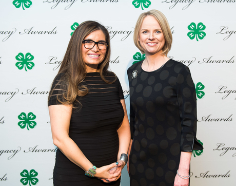 National 4-H Council President and CEO Jennifer Sirangelo (right) presented Ethel Branch with the 4-H Luminary Award at a Washington, D.C. gala last month. (Courtesy of the National 4-H Council)