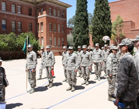 University of Arizona Air Force ROTC students receive leadership and military training in addition to earning their degrees. (Courtesy of UA AFROTC)