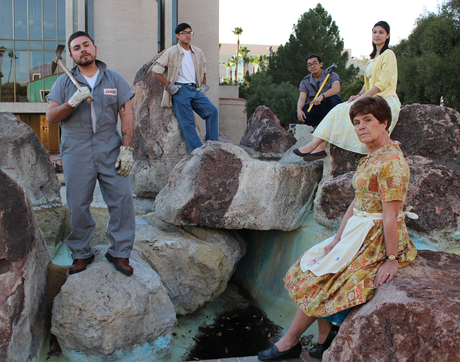 Borderlands Theater actors depict life in the culturally diverse, 80-acre residential and business district in downtown Tucson. (Photo: Marc Pinate)