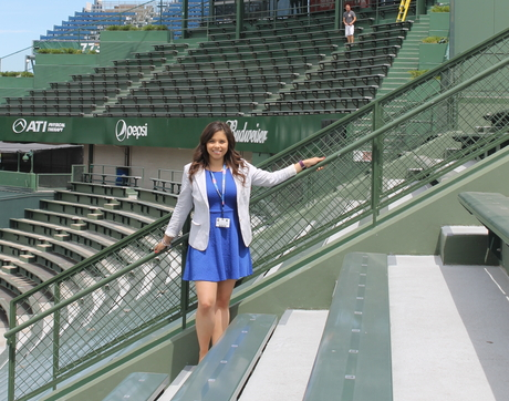 Brittany Reynoso is the coordinator of team family relations for the Chicago Cubs organization. (Photo courtesy of Lisa Romero)
