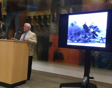 "James Delgado, in his talk at UA Libraries' Special Collections, said the USS Arizona ""Is the story of us, really. It's the story of people rendered exceptional by extraordinary circumstances."""