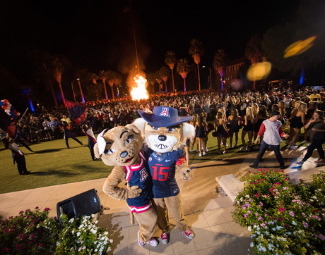 Friday's Homecoming activities will include the Homecoming Barbecue Bash, the Alumni of the Year Awards Ceremony, the Bear Down Friday Night Pep Rally and the Bonfire. (Photo: Jacob Chinn/UA Alumni Association)