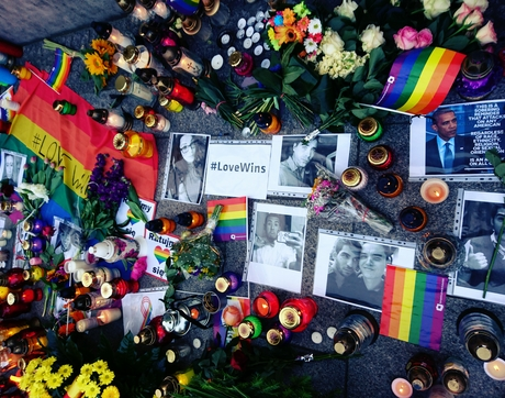 The June 2016 shooting in Orlando was the deadliest mass shooting by a single shooter, and the deadliest incident of violence against LGBT people in the history of the United States. (Photo: Miłość Nie Wyklucza via Wikipedia)