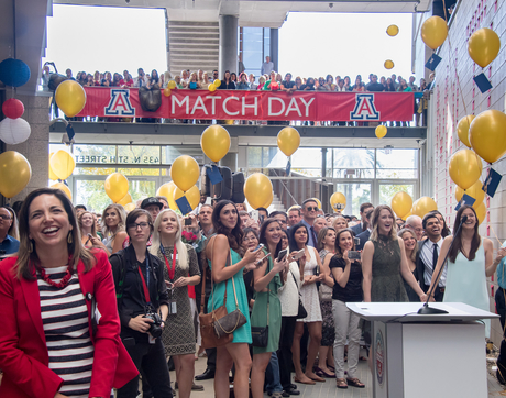 Match Day was a joyous occasion for UA College of Medicine – Phoenix students at the Phoenix Biomedical Campus.