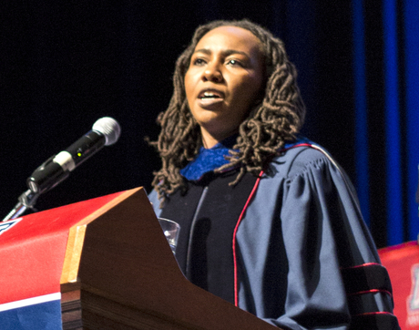 """Your degrees have disproportionally gifted you with the tools to be social architects. You have the capacity to imagine and build an entirely different world — one where we finally have a functioning, vibrant democracy that works for all of us,"" Opal Tometi, UA alumna and Black Lives Matter co-founder, said during the College of Social and Behavioral Sciences convocation ceremony."