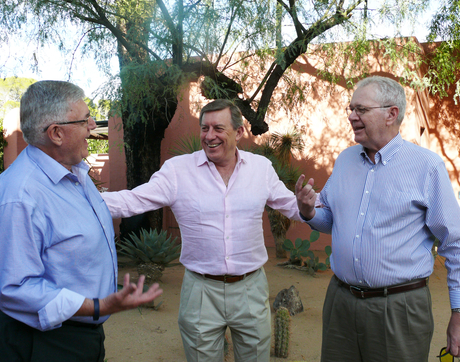 John Patterson, Raymond Spencer and Neil Vance catch up in Tucson, Ariz.