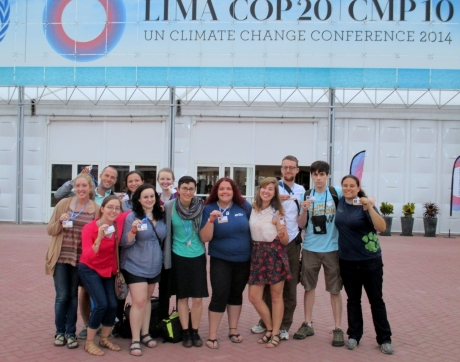 The Sierra student coalition COP20 delegation in Peru in 2014 (Photo courtesy of Natalie Lucas)