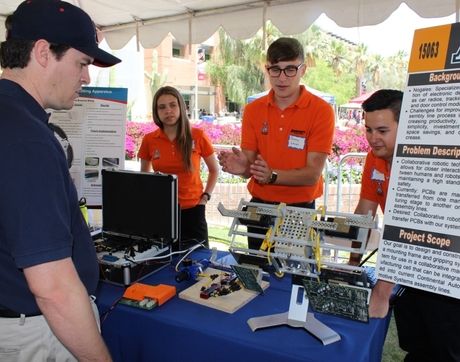 In the culmination of nine months of work, 100 teams of engineering students presented their projects during Design Day. (Photo courtesy of UA College of Engineering)
