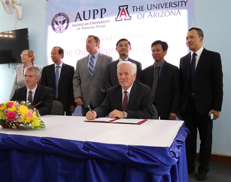 The 11 new partnerships join the UA's two existing micro-campuses, which are UA Qingdao at Ocean University of China and UA Phnom Penh at the American University of Phnom Penh in Cambodia (above). (Photo courtesy of the American University of Phnom Penh)