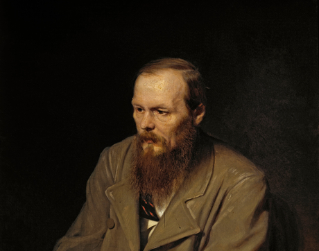 A portrait by Vasily Perov of Fyodor Dostoevsky, a popular 19th-century Russian writer