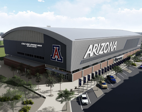 An artist's rendering shows what the Cole and Jeannie Davis Sports Center will look like when it is completed.