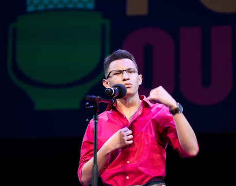 Edgardo Aguilar is the 2019 Arizona Poetry Out Loud champion. (Photo: Arizona Commission on the Arts)