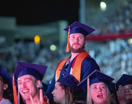 Many universities, including the University of Arizona, have been forced to cancel in-person graduation ceremonies because of COVID-19. This photo was taken during the 2018 ceremony.