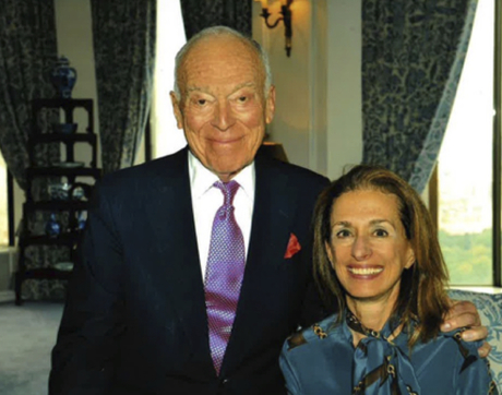 Leonard A. Lauder and his longtime friend and business associate Rose Marie Bravo, who is in complete remission from clear cell ovarian cancer thanks to the efforts of University of Arizona researcher Dr. David S. Alberts.