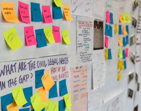 Innovation for Justice program students use design and systems thinking to create new models of legal empowerment. (Photo: James E. Rogers College of Law)