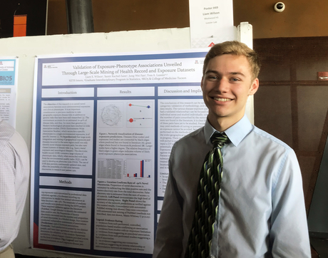 Liam Wilson, a student at Westwood High School in Mesa, Arizona, contributed to a UA research study last summer as part of a KEYS Research Internship. He and his fellow KEYS interns were named co-authors on the resulting paper. (Photo: Colleen Kenost)