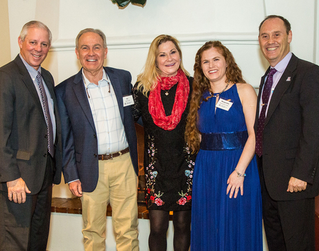 From left: UA President Robert C. Robbins, Vic and Karen Smith, Margarethe Cooper, Shane Burgess (Photo: Sunstreet Photo)
