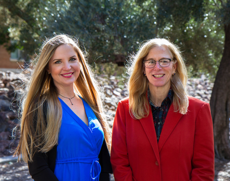 Candace Black (left) and Sally Stevens (Photo: Mari Cleven/UA Research, Discovery and Innovation)