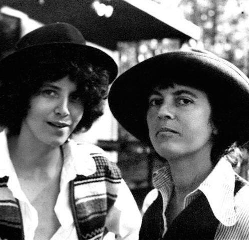 Sande Zeig (left) and Monique Wittig in 1979, photographed by Adele Prandini. (Photo courtesy of The Opoponax mobile application)