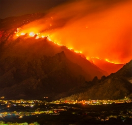 fire on a mountain