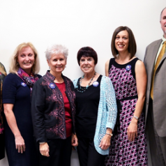 (Left to right) Ruth Taylor-Piliae, Laura McRee, Janice Crist, Nina Slater, Sheri Carson and Ted Rigney