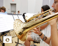 Student musicians have been tutored by some of the best in jazz at this week's Great Western Jazz Camp. (Photo: Bob Demers/UA News)