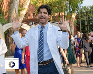 New UA medical students received their first white coats at two ceremonies held in late July in Tucson and Phoenix. (Photo: Kris Hanning/UAHS BioCommunications)