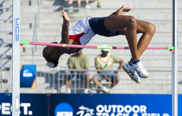 The UA's Brigetta Barrett has qualified for the finals in the high jump in the Olympics.