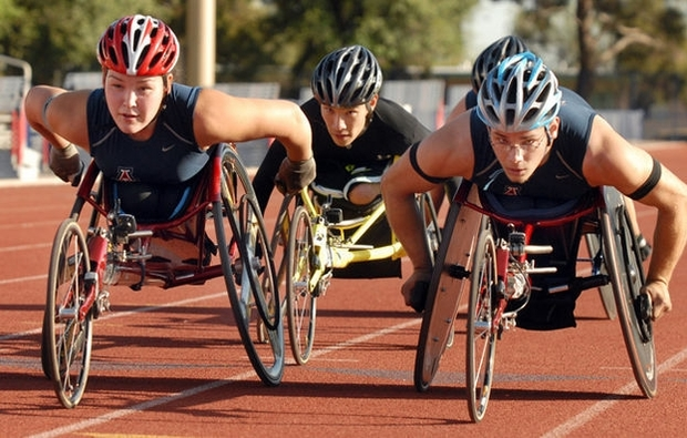 Representing the UA Adaptive Athletics track and field team: Jordan Bird, a UA psychology junior, will race for medals in the 400 and 800-meter competitions; Zachary Abbott, a physiology major, will race in the 100, 200, 400 and 800-meter events; and Tanner Gers, a business administration and communication junior who is visually impaired, will compete in the long jump competition and serve as an alternate in the 4 x 100-meter relay.