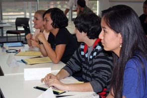 Children and youth are involved in court proceedings for numerous reasons. Some are victims of abuse, some serve as witnesses, are involved in juvenile court or adoption proceedings. For high school students interested in the legal field, the UA Law Camp informs on the role of the legal field and reasons why it is important to advocate on behalf of children called to the witness stand. (Photo by Beatriz Verdugo/UANews)