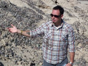 UA anthropologist James Watson gives a tour of the La Playa site, which he is studying. The site is located in northern Sonora, Mexico. (Photo courtesy of James Watson)