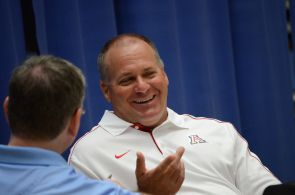 The regents extended UA football head coach Rich Rodriguez's contract to 2017. (Photo by Patrick McArdle/UANews)