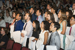 As part of the ceremony, the medical students recited the vision and mission statement they crafted together during the first few days of their medical school experience, which began Aug. 6.