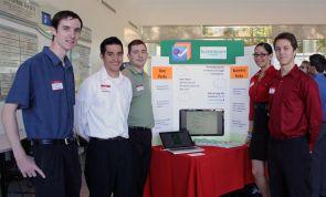 "Scott Buscemi, Bryan Macias, Brian Wilka, Gabriella Escobar and Nic Lichtner headed up the project, ""Greensquare: Sustainability Turned Social."""