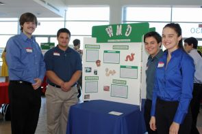 Ryan Jicha, Joseph Sanchez, Eric Mason and Elizabeth Smiley are behind the idea to use worm composting in UA residence halls and in the Student Union Memorial Center.