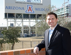 A study by UA MBA student Kevin Wittner found that the Sept. 18 UA-University of Iowa football game at Arizona Stadium resulted in nearly $8.2 million for the local economy. (Photo by Beatriz Verdugo/UANews)