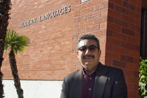 Javier D. Durán, a UA associate professor and director of Confluence, collaborated with Susan Stryker, who directs UA's Institute for LGBT Studies, to host a symposium to open conversations about virtual and biometric borders and how such borders affect bodies, rights and jurisdictions. (Photo credit: Beatriz Verdugo/UANews)