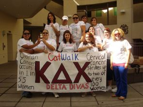 Greek members host and participate in a range of philanthropic events, including Up 'til Dawn and the Catwalk. (Photo courtesy of the UA's Fraternity and Sorority Programs)