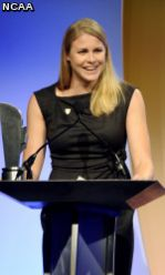 Justine Schluntz after being named the 2010 NCAA Woman of the Year.