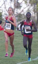 Jen Bergman and Elvin Kibet (Photo courtesy of Arizona Athletics)
