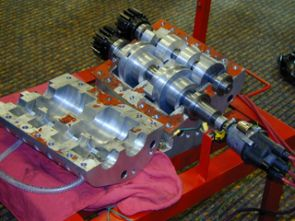 The Jonova Motor has only two rotating parts. By contrast, the internal combustion engines found in most automobiles have something like 96 moving parts. (Photo by Susie Bowers)